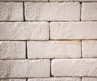 Close up white brick wall for texture and background Royalty Free Stock Photography