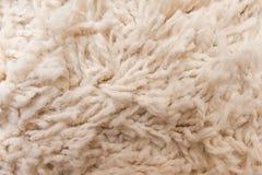 Close up white carpet texture Royalty Free Stock Image