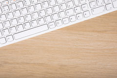 Close up on a white computer keyboard Royalty Free Stock Images