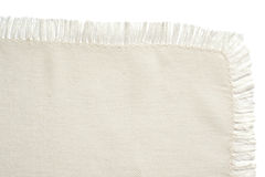 Close up of a white cotton napkin Royalty Free Stock Image