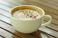 Close up cup of espresso coffee Royalty Free Stock Photos