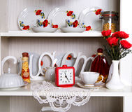 Close-up of white decorated cupboard Stock Photo