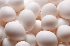 Close Up of White Eggs Royalty Free Stock Photos