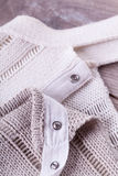 Close up White Flax Cloth Stock Images