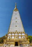 Close up white and gold thai pagoda. In thailand Stock Photos