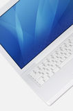 Close-up of White Laptop Stock Photos