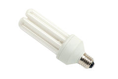 Close up of a white light bulb Stock Photography