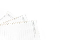Close up of a white note paper Royalty Free Stock Photography