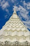 Close up of white pagoda in Bangkok Royalty Free Stock Photos