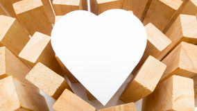 Close up  white paper heart Stock Photography