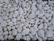 Close up white pebbles Japanese garden arrangement stock photography