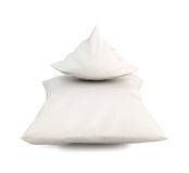 Close up of a white pillow on white background Stock Photography