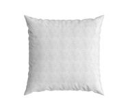 Close up of a white square pillow 3d render on white background Royalty Free Stock Images