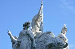 Close up of white statue at Albert Memorial Stock Image