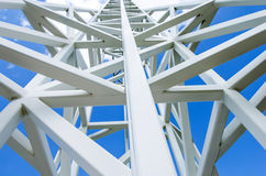 Close up on white steel tower. Stock Photos