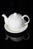 Close-up of White Teapot Royalty Free Stock Photography