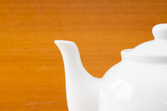 Close up white teapot Stock Image