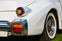 Close-up of white vintage car Stock Images