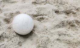 White Volleyball in the Sand royalty free stock image