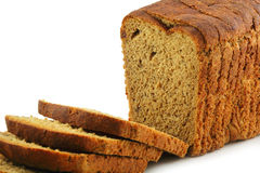 Close-up of Whole Wheat Bread Isolated Royalty Free Stock Photography