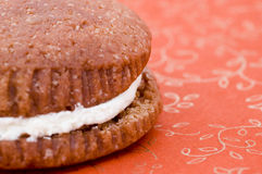 Close up of Whoopie Pie Royalty Free Stock Images
