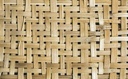 Close-up of wicker basket with details of weft Stock Images