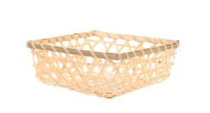 Close up of wicker basket. Royalty Free Stock Images