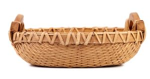 Close up of wicker basket. Royalty Free Stock Photography