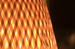 Close Up of Wicker Lamp Royalty Free Stock Image