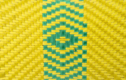 Close-up wicker woven pillow Royalty Free Stock Image