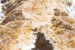 Close up Wild river  currents running rough Stock Images