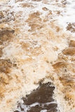 Close up Wild swirling river  running rough Royalty Free Stock Images
