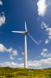 Close-up of a wind turbine on the mountain Royalty Free Stock Photo