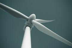 Close up of wind turbine producing alternative energy Stock Photos