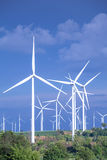 Close up of wind turbines Royalty Free Stock Images