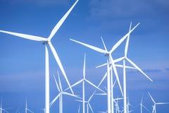 Close up of wind turbines Stock Image