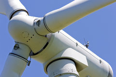 Close up of a windmill. Close up of wind turbine in a windfarm royalty free stock photography