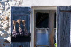 Close up of window in Provence, France Stock Photography
