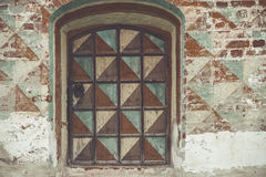 Close-up of the window in the wall of the Rostov Kremlin Royalty Free Stock Images