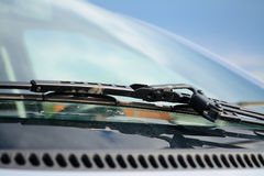 Close up of a windshield wiper Stock Image