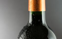 Close up of wine bottle