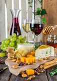 Close-up of Wine And Fruits Royalty Free Stock Image