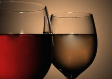 Close up of wine glasses Stock Photos