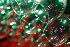 Close-up of wineglass with abstract lights Royalty Free Stock Photo