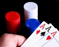 Close up of a winning hand Stock Photo