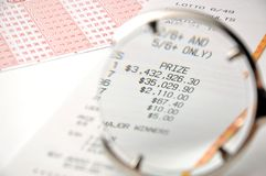 Close-up winning number Stock Images