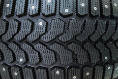 Close-up of winter tire Stock Photo