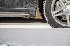 Close-up of winter tire Royalty Free Stock Photo