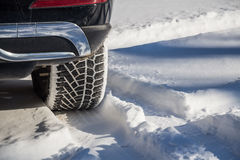 Close-up of winter tire Stock Images