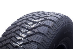 Close up of winter tire tread Stock Images